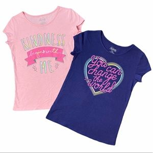 Girl's City Streets Pink & Blue T-Shirts